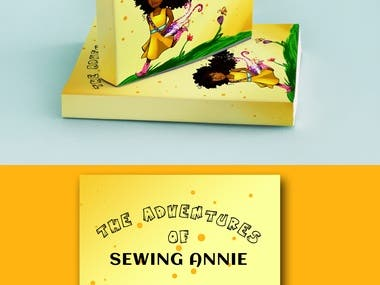 Book cover design with african girl