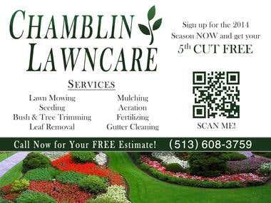 Chamblin Lawn Care Direct Mail Marketing