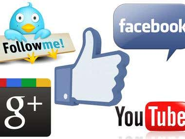 facebook likes,subcribes,twitter followers and youtube views