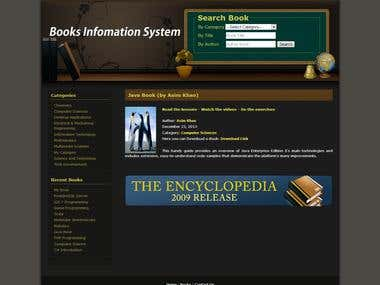 Online Books Information System