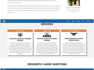 Wordpress wesite for Vaughan DronePilot