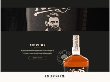 Wordpress wesite for NED Whisky – Australian Whisky Distil