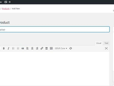 WooCommerce Product Entry