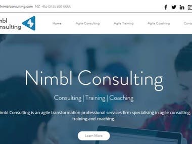 Training & Development Based Website (Informative Web)