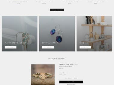 Crystal Candle   Jewellery Website