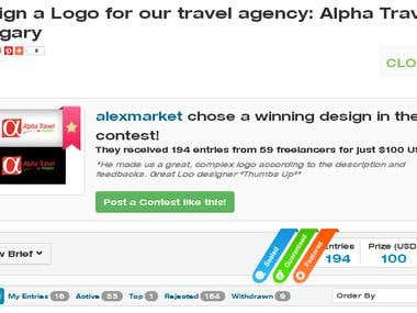 Alpha Travel Hungary Winning Design