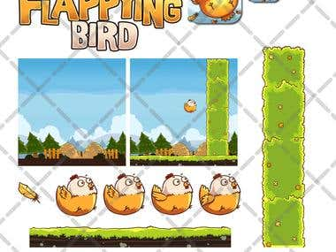 Game Unit Interface Flapying Bird