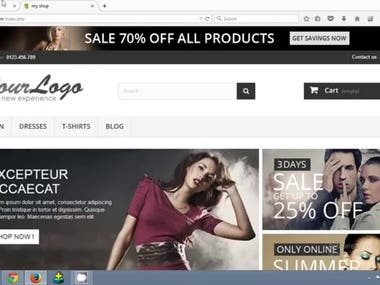 eCommerce website - Prestashop