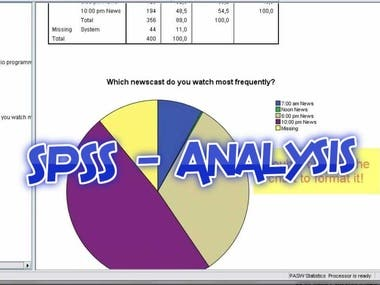 SPSS - Analysis - PRESENTATION AND DISCUSSION OF RESULTS