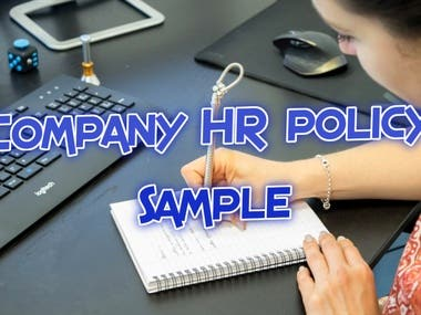 Company HR policy - Sample