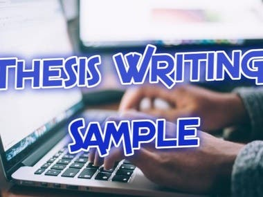 Thesis Writing -- Sample
