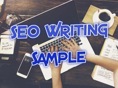 SEO Content Writing -- Sample