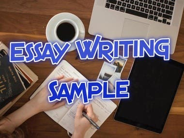 Essay Writing -- Sample