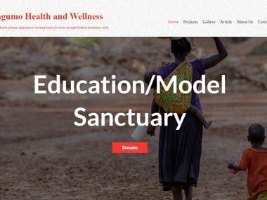 Charity website on laravel framework.