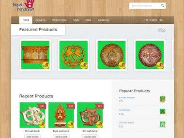 Web design project for nepali handicraft