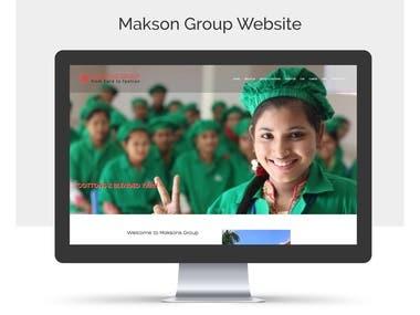 Maksons Group Website