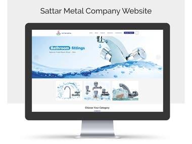 Sattar Metal Company Website