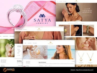 Satya Jewels: Ecommerce website