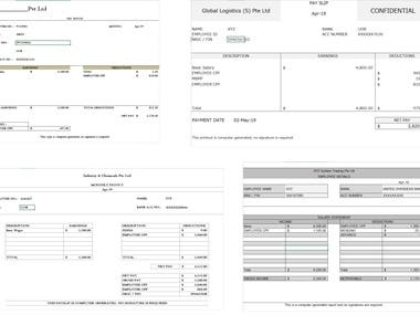 Excel Template Design