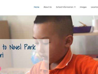 Novel Park Montessari School Wordpress Website