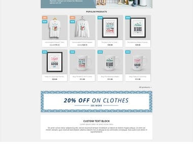 PrestaShop eCommerce website