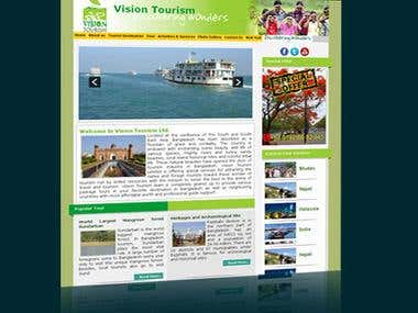 Website for tourism company