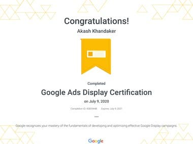 Google display ads certification