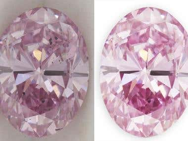 Pink Diamond Photo Retouching