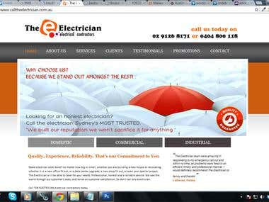 Web-site for electrical services company