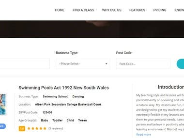 Job Business(Course) website
