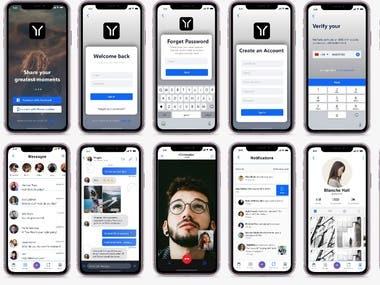 Social Mobile APP GUI