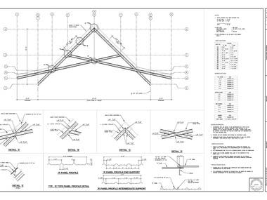 Shop Drawing for Steel Truss
