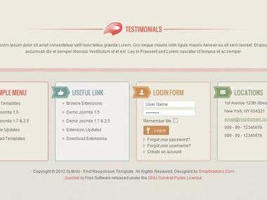 Joomla template responsive