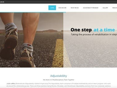 Adjustability Website