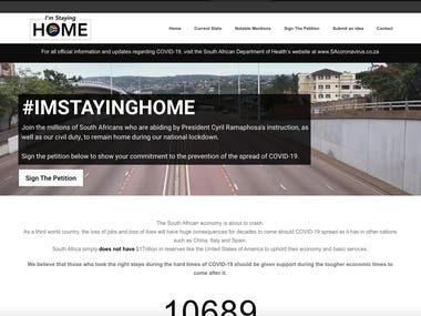 #ImStayingHome Website