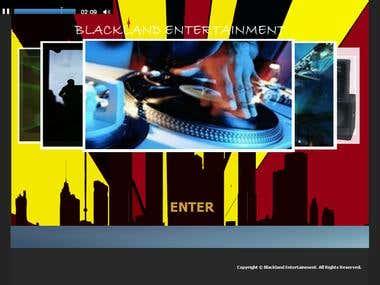 Web design for Black Entertainment