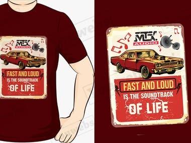 Retro look T-shirt Design