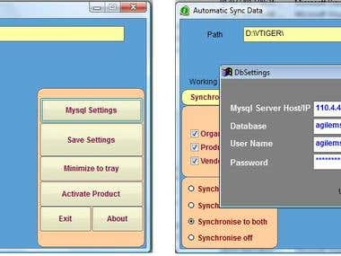 vTiger CRM - USB Realtime Sync Desktop Application