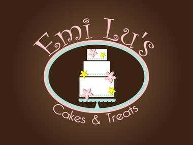 Emi Lu's Cakes & Treats Logo Design