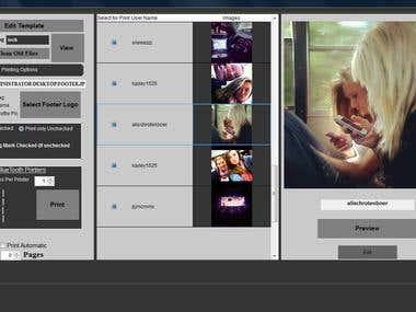 Show Images in custom frame from Instagram website.