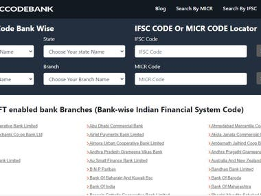 Find IFSC Code Bank
