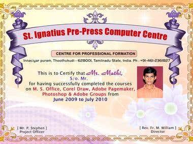 Certificate Designing