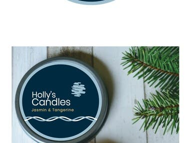 Holly candles project