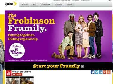 Sprint Frobinsons Website
