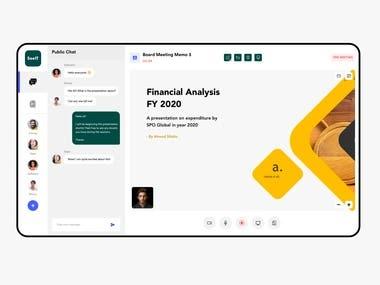 Web app for online presentation
