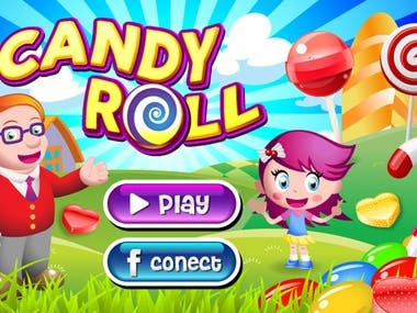 Candy Roll Game App
