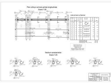 Reinforcement and formwork drawing