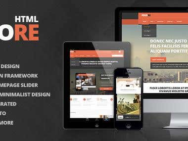 Pixore - Responsive Multi-Purpose HTML5 Template