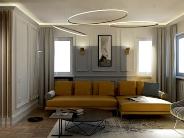 Interior Design and 3d renderings_Gio' Ponti