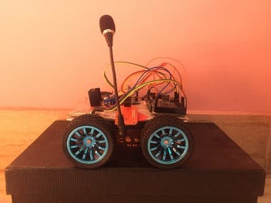Voice controlled robotic car